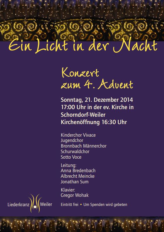Konzert zum 4. Advent